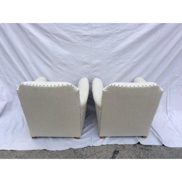 Traditional Restoration Hardware Club Chairs - a Pair For Sale - Image 3 of 8
