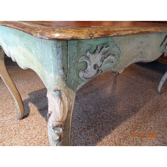 Auburn 19th Century French Writing Desk With Leather Top For Sale - Image 8 of 13