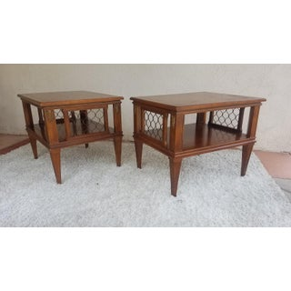 Mid Century Modern Two Tiered End Tables - a Pair Preview