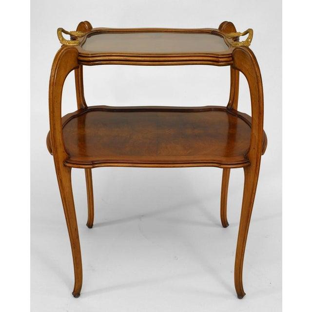 Art Nouveau French Art Nouveau Walnut Tier Table For Sale - Image 3 of 5