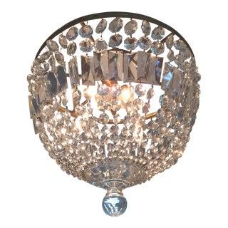 Vintage Empire Crystal Chandelier For Sale