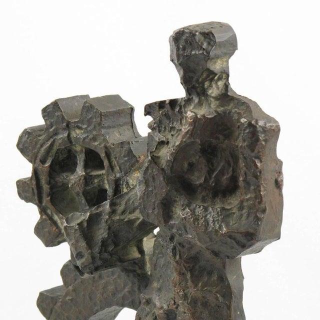 Mid-Century Modernist Brutalist Bronze Sculpture For Sale In Atlanta - Image 6 of 11