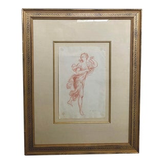 19th Century Red Chalk Drawing For Sale