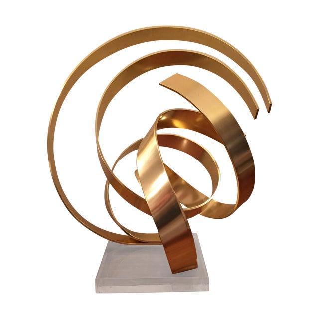 Abstract Dan Murphy Aluminum & Lucite Sculpture - Image 1 of 6