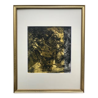 Vintage Modernist Mixed Media Abstract by Oscar Murillo Gouache Ink Watercolor For Sale