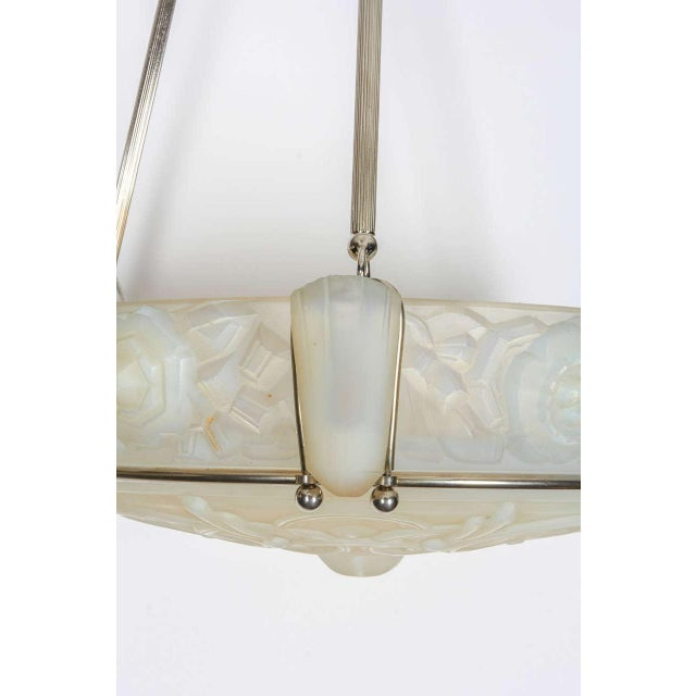 Early 20th Century French Art Deco Chandelier by Sabino For Sale - Image 5 of 8