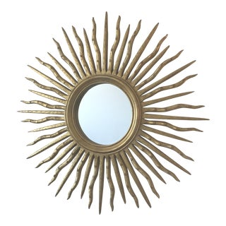 Early 21st Century Contemporary Wood Sun Mirror For Sale