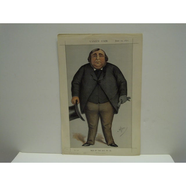 """This is a Vintage Vanity Fair Print -- Men Of The Day No. 25 -- Titled """"Baronet Or Butcher"""" -- Dated June 10, 1871 -- The..."""