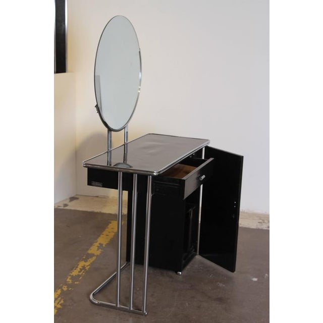 Machine Age Art Deco Royalchrome Dressing Table #347 by Royal Metal, 1936 For Sale In Dallas - Image 6 of 11