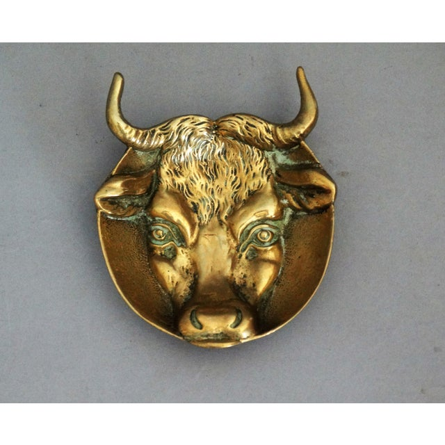 Lodge English Bronze Bull Catch All Trinket Dish, 1930 For Sale - Image 3 of 7