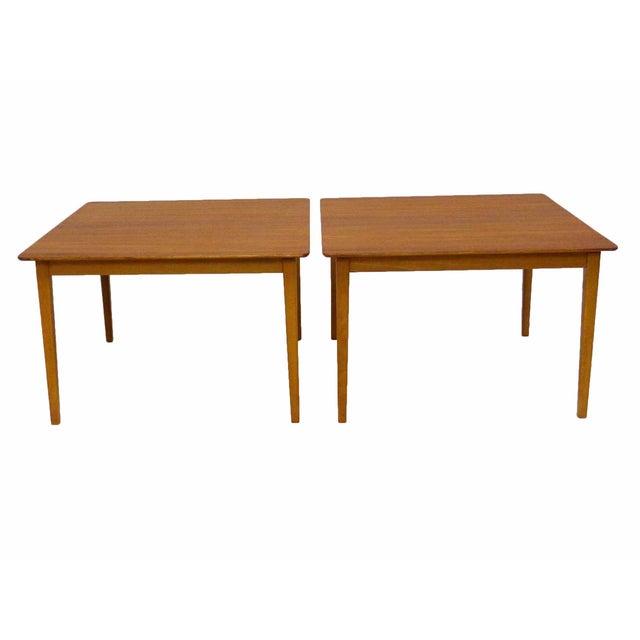Tingstroms of Sweden Teak Side Tables - A Pair For Sale