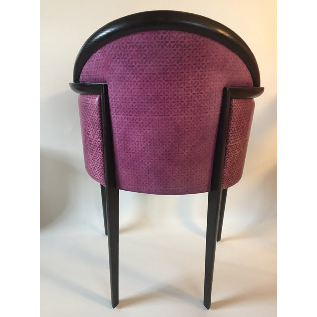 Plastic Custom Art Deco Dining Chairs by Renowned Los Angeles Designer- Set of 12 For Sale - Image 7 of 9