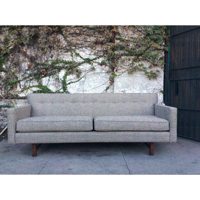 Mid Century Grey Sofa: Gray Mid-Century Style Sofa