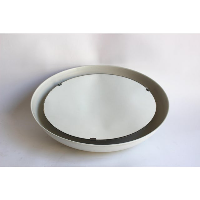 Rare Illuminated Metal Mirror by Arne Jacobsen for Louis Poulsen For Sale In New York - Image 6 of 8
