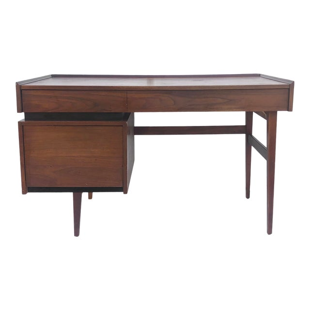 Mid-Century Writing Desk With Raised Edge by Dillingham For Sale