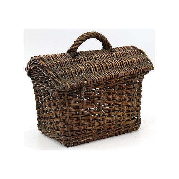 French 19th Century French Ladies Market Basket For Sale - Image 3 of 5