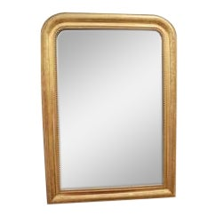 Gilded Louis Philippe Mirror With Original Glass For Sale