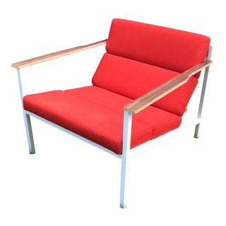 Gus Modern Halifax Chair Upholstered in Red For Sale