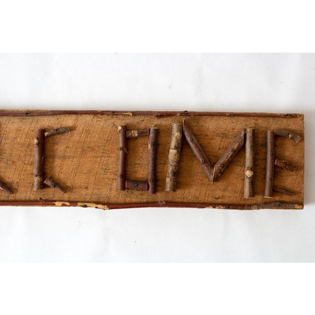 Rustic Twig Welcome Sign For Sale - Image 4 of 6