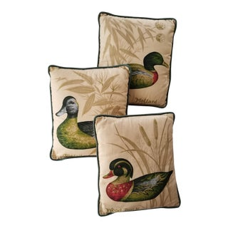 Mid-Century Modern Ducks Pillows - Set of 3 For Sale