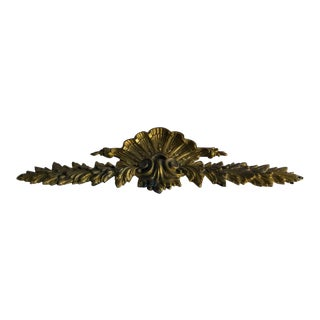 French Gilt Bronze Pediment Mount, For Sale