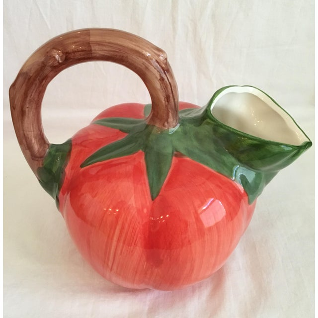 Vintage Tomato Shaped Ceramic Pitcher For Sale - Image 13 of 13