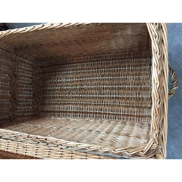 French Wicker Trunk For Sale - Image 5 of 7