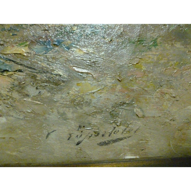 19th C French Impressionist Coastal Scene W Hot Air Balloon Painting For Sale In Miami - Image 6 of 10
