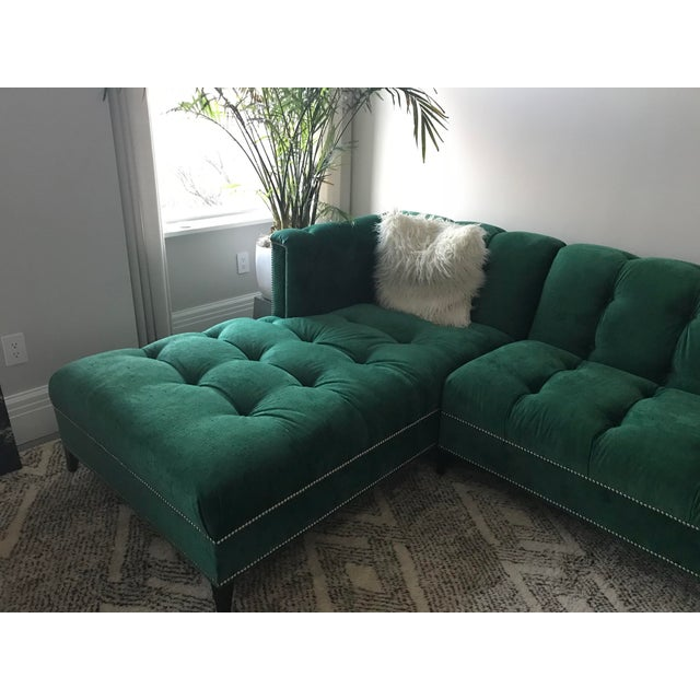 2010s Ambella Dashing Sofa & Left Arm Chaise For Sale - Image 5 of 7