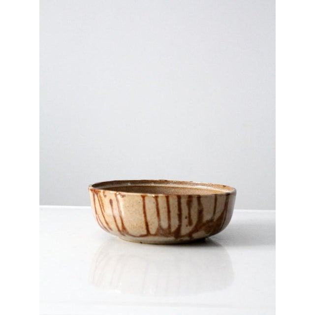 1970s Brown Glazed Pottery Bowl - Image 6 of 8