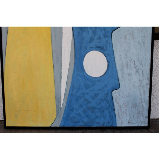 1972 Abstract Painting, Framed For Sale - Image 4 of 7