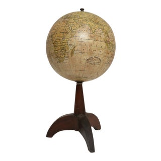 1920's Antonio Vallardi-Editore Italian World Globe For Sale