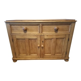 1880 Antique English Pine Cabinet For Sale