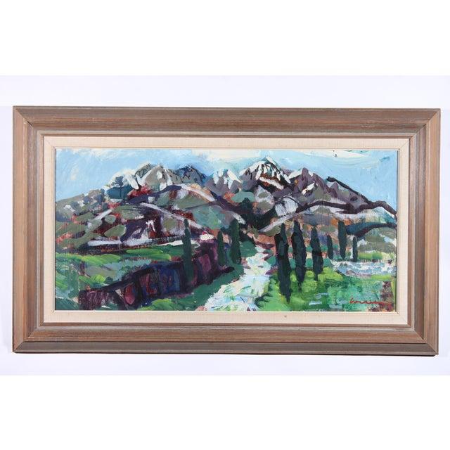 "Bertil Wahlberg ""Positano"" Oil Painting - Image 2 of 3"