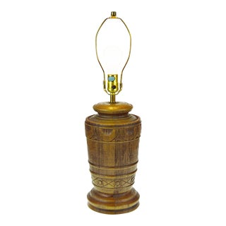 Vintage Florentine Art Studio Chalkware Table Lamp For Sale