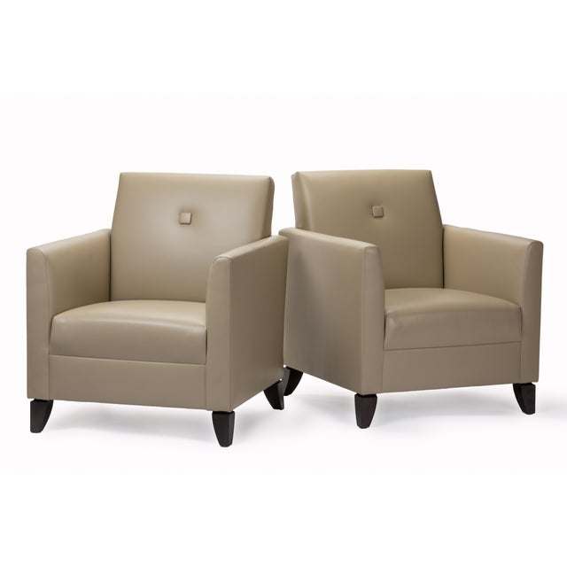 Princeton Leather Reading Chair - Image 3 of 5