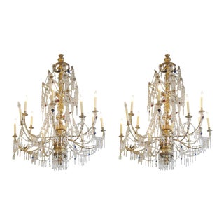 Early 19th Century Genovese Chandeliers - a Pair For Sale
