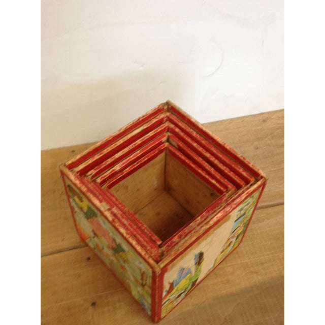 Vintage Preschool Nesting Blocks - Set of 5 - Image 2 of 6