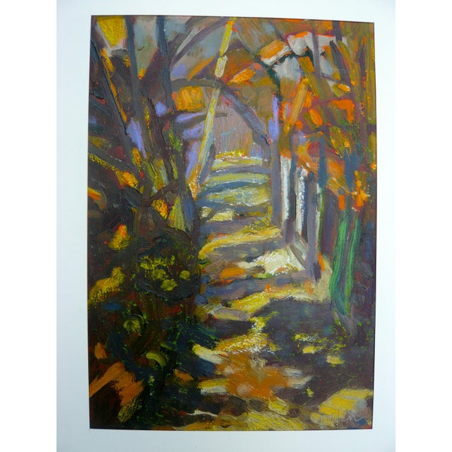 """Path in the Woods"" Original Painting - Image 2 of 7"