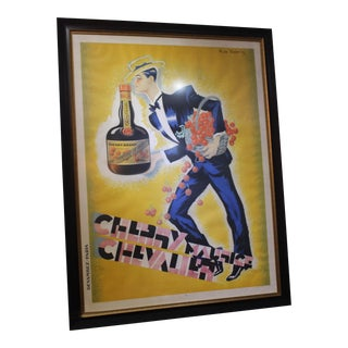 """Cherry Brandy Maurice Chevalier 70"""" Lithographic Poster by Roger De Valerio 1935 For Sale"""