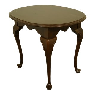 "Late 20th Century Ethan Allen Georgian Court Solid Cherry End Table - 23x28"" For Sale"