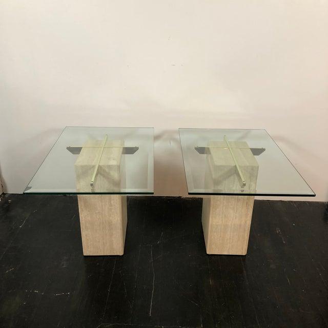 Artedi 1970s Artedi Italian Marble Side Tables - a Pair For Sale - Image 4 of 13