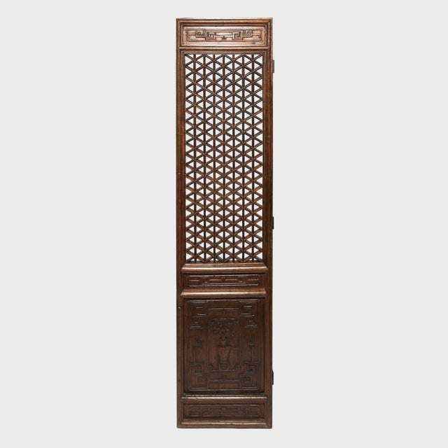 Set of 19th Century Chinese Four Treasure Lattice Panels For Sale - Image 11 of 12