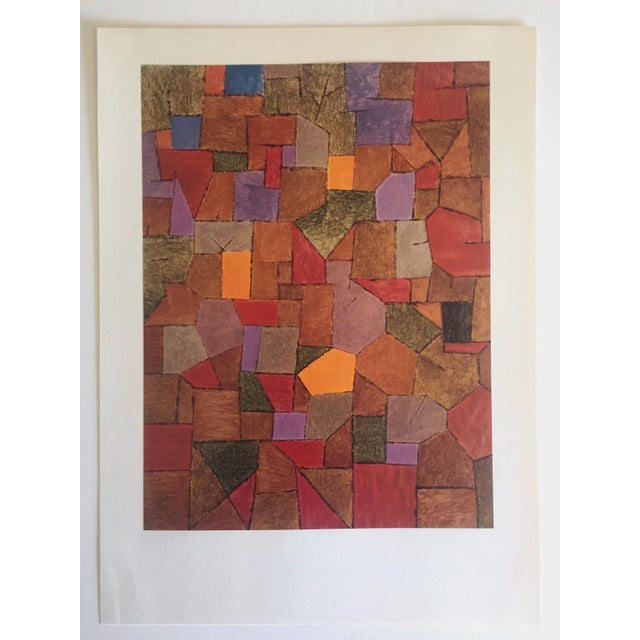 """Paul Klee Vintage 1967 Authentic Abstract Lithograph Print """"Mountain Village Autumnal"""" 1943 For Sale In Kansas City - Image 6 of 8"""