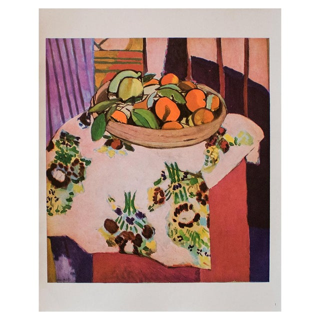 "1940s Henri Matisse, ""Oranges"" Original Period Swiss Lithograph For Sale In Dallas - Image 6 of 6"