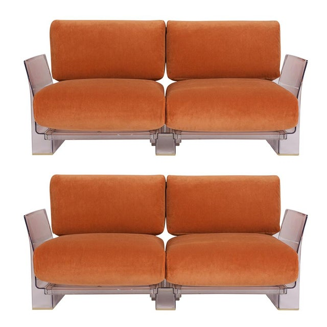 Pair of Lucite Love Seats/ Sofas by Piero Lissoni for Kartell For Sale - Image 13 of 13