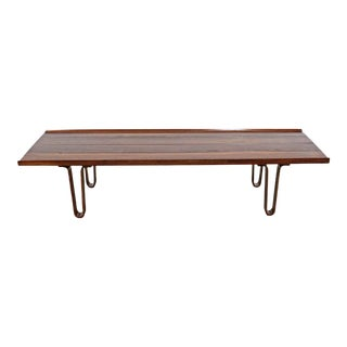 Mid-Century Modern Edward Wormley Dunbar Long John Bentwood Coffee Table For Sale