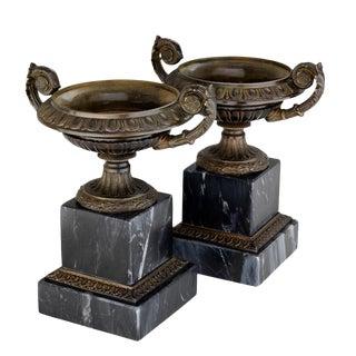 Eichholtz Bresson Black Marble Vase - A Pair For Sale