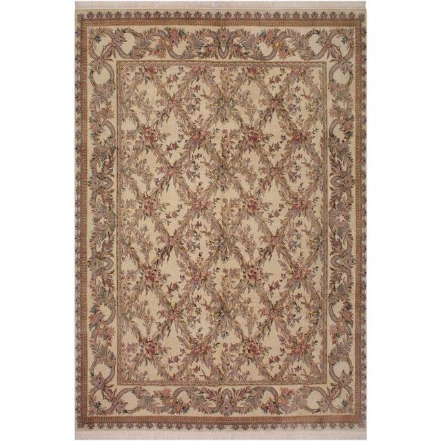 Brown Victorian Basan Pak-Persian Rossana Wool Rug - 8′5″ × 10′ For Sale - Image 8 of 9