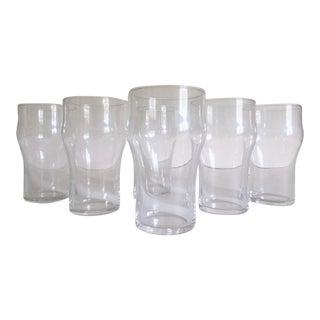 Vintage French Bistro Modern Tempered Soda Glasses - Set of 6 For Sale